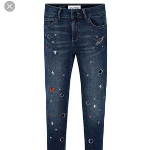 DL1961 girls skinny jeans Chloe Galaxy size 14